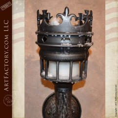 Log Cabin Kitchen Cabinets Price Pfister Faucets Custom Crown Torch Sconce - Medieval Castle Inspired Wall ...