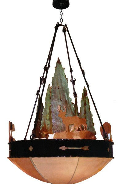 Sequoia Chandelier Iron and Copper Design - LC524D