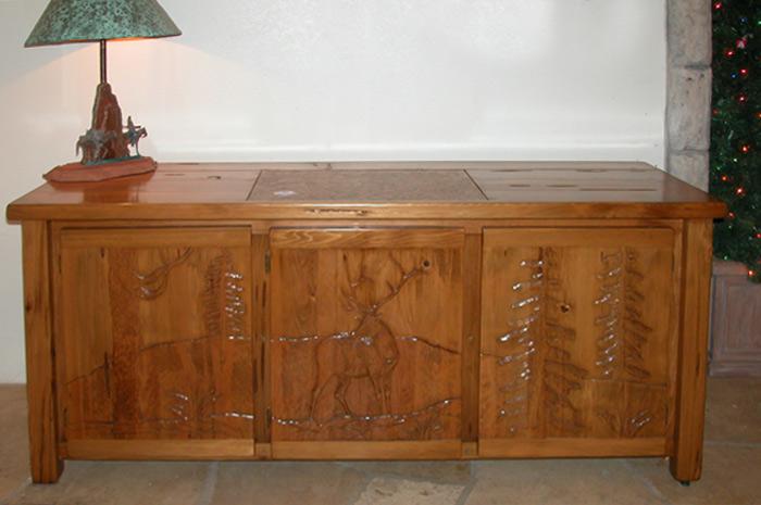 Storage Credenza - Wilderness Carved Desk - MLOD562B