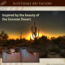 Custom Sonoran Desert Theme Gates - Wrought Iron