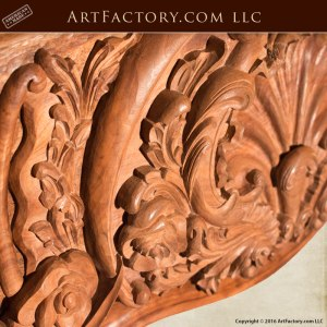 master hand carved fireplace mantel