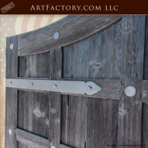 Custom Driveway Gates - Antique Panels Solid Iron