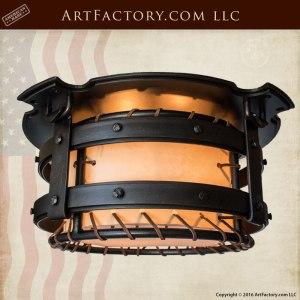 Round Ceiling Light, Hand Made Chandeliers - Craftsman - CCRH878