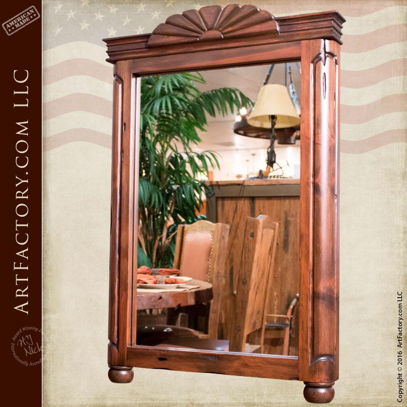 Unique Vanity Mirrors: Custom Sunburst Vanity Mirror