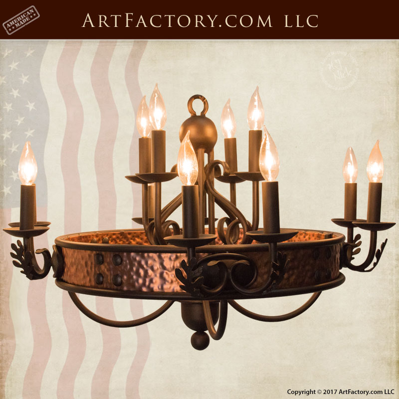 Hand Forged Iron Chandelier - CHT081