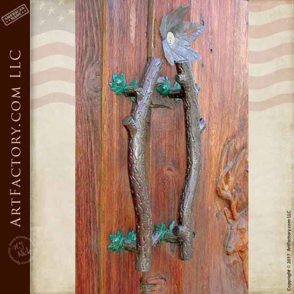 curved tree branch door pulls