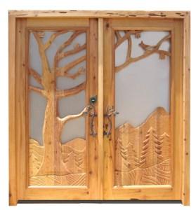 Carved Doors - Klaipėda Castle 13th Cen Lithuania - 2342HCB