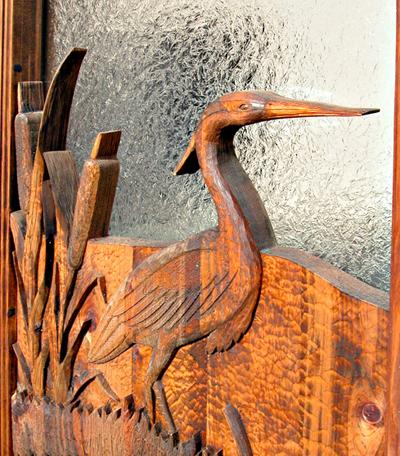 Custom Cabin Doors Hand Carved Nature Themed Doors