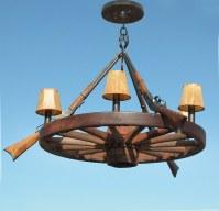 Wagon Wheel Chandelier - Genuine Old American West