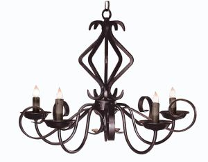 Hand Forged Iron Chandelier - European Style - LC527