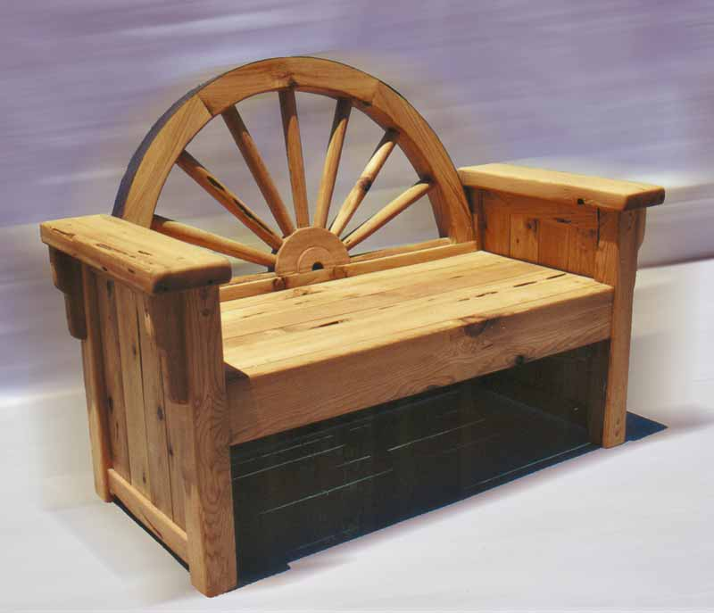 wheel bench watch front in of house wagon