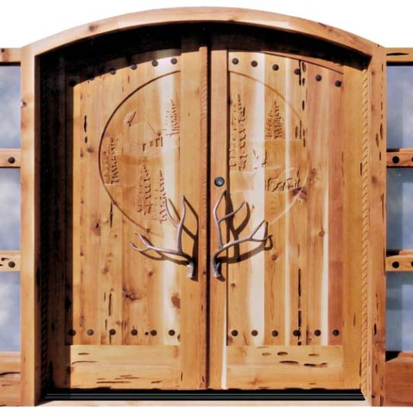 Large Grand Doors Hands Carved Wilderness Theme  - 5013AT