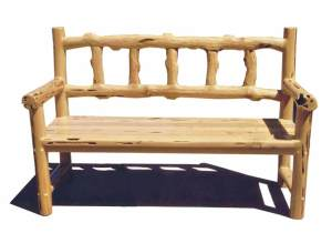 Bench - Hand Carved Log Bench - MLBS574A