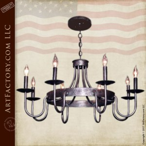 Rustic Iron Chandelier - Eight Light Candelabra - LC509