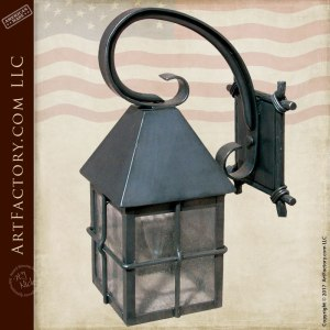 Custom Made Hand Forged Coach Light Sconce - LS171
