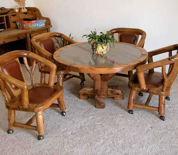 Lodge Dining Chairs | Wood Dining Room Chairs | Leather Dining Chairs