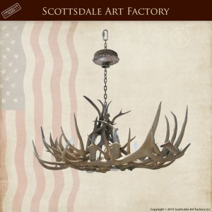 Antler Chandelier - Deer North Western United States - LA220