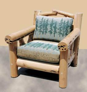 Lodge Chair - Hand Carved Wilderness Theme - MLC543