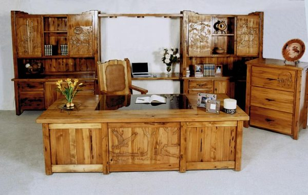Executive Office - Hand Carved Wood Furniture - MLOD561A