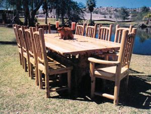 Dining Table  - Lodge Style Cabin Table And Chairs -  MLT512