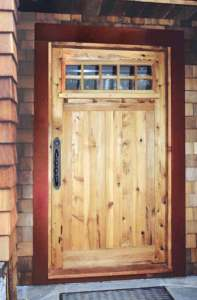 Entrance Door - Craftsman Mission Style Wood Doors - 5376GF