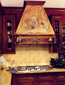 Kitchen Cabinets Glass Cabinets Artistic Range Hood KIT6767
