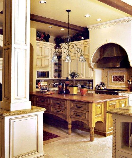 Custom Carved Kitchen Cabinets  KIT20