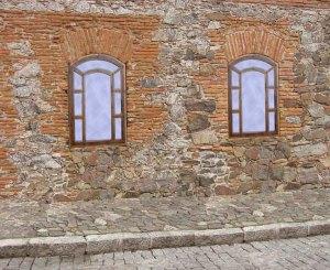 Wood & Wrought Iron Window - Cust Provided Photo - Win1715