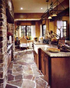 Tuscan Or Country Custom Kitchen CHT1003