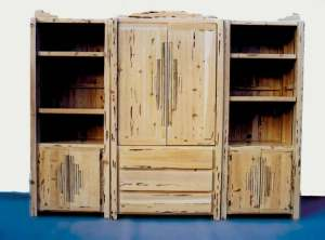 Entertainment Center -Hand Crafted In America -  SWEC124A