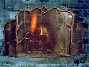 Fireplace Screen- Custom Hand Forged - MLFS583
