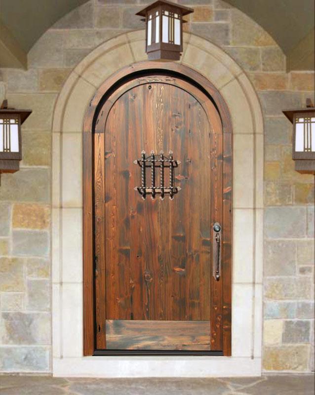 ... Arched Entry Door   Castello Della Manta   1382GP