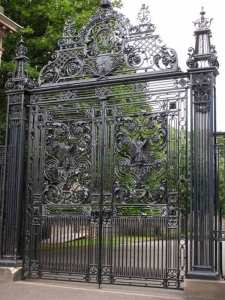 Custom Wrought Iron Entry Gate Holyrood Palace - 1223IGT