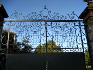 Wrought Iron Entry Gates - Castle Leslie Ireland - 1225IGT