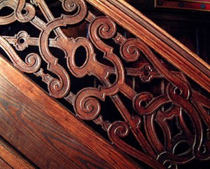 Balustrade - Hand forged Wrought Iron & Wood - SB098