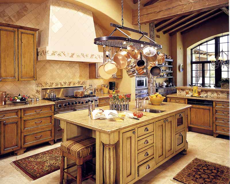Cabinets-Pot Rack- Chandelier - Customer Home Photo CH2122