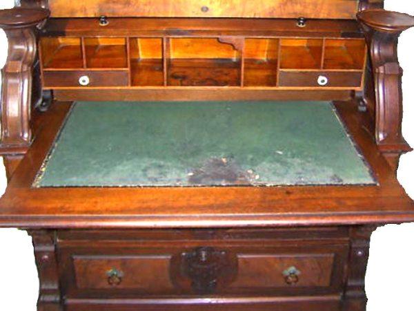 Roll Top Desk Antique Cylinder Desk Secretary Desk