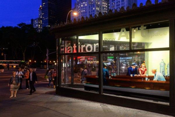 Awful Life-size Edward Hopper Diner Flatiron