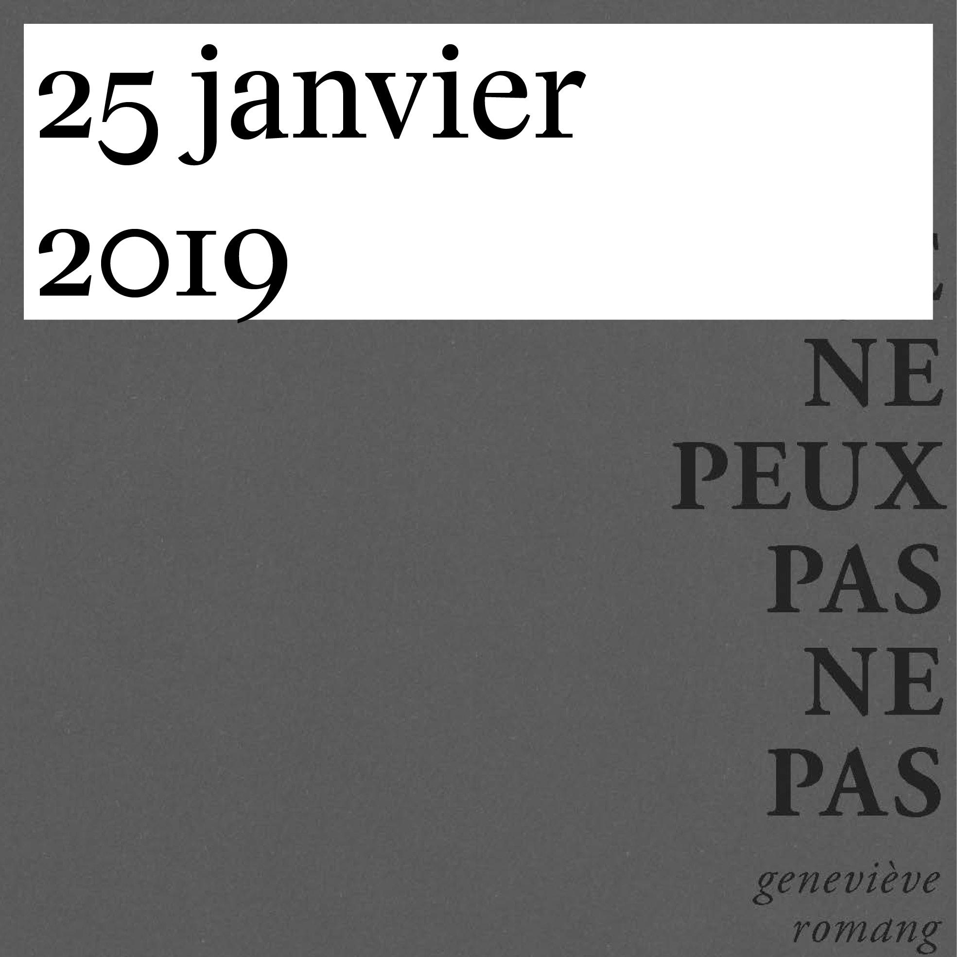 Vernissage de «Je ne peux pas ne pas» de Geneviève Romang
