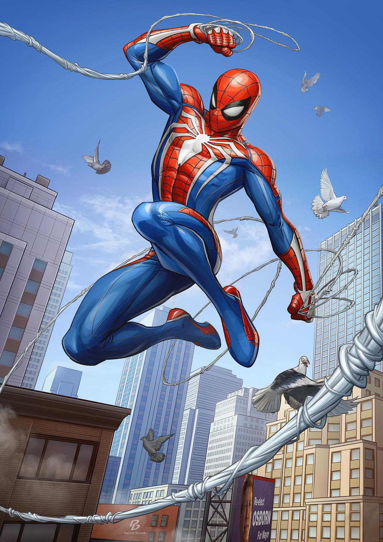 Spider Man Ps4 Art