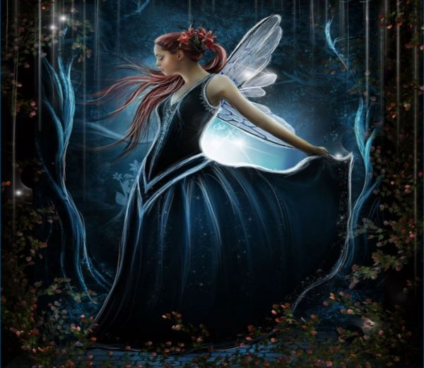 Moonlit Fairy Art - Id 7048 Abyss