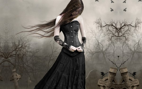 Gothic Girl Art - Id 89102 Abyss