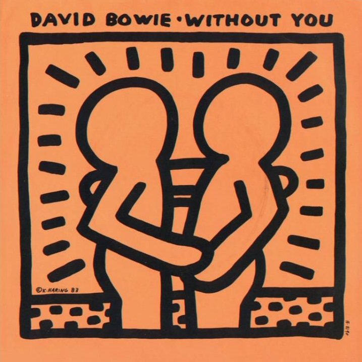 Without-You-di-David-Bowie-con-cover-di-Keith-Haring