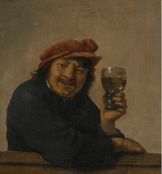 Man Holding a glass roemer