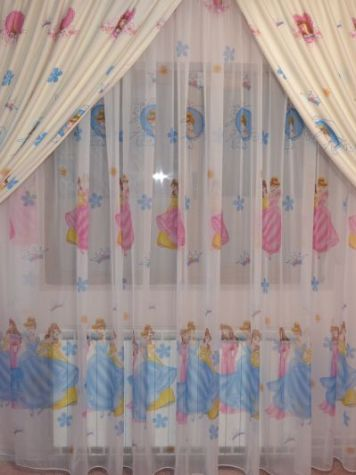 Perdele draperii printese personaje desene animate