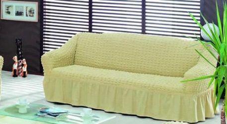 husa canapea 3 crem