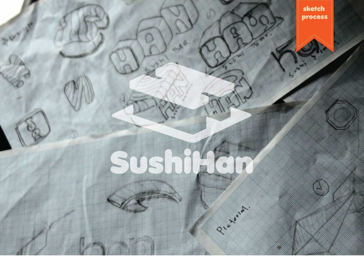 Logo Dari Restoran Sushihan Yang Sangat Unik Dan Kreatif