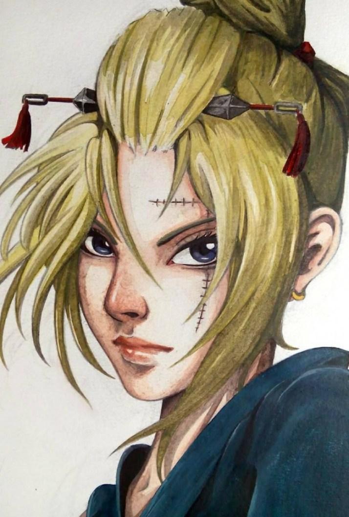 Ilustrasi Karakter Anime Jepang Karya HNE Hendy Erang