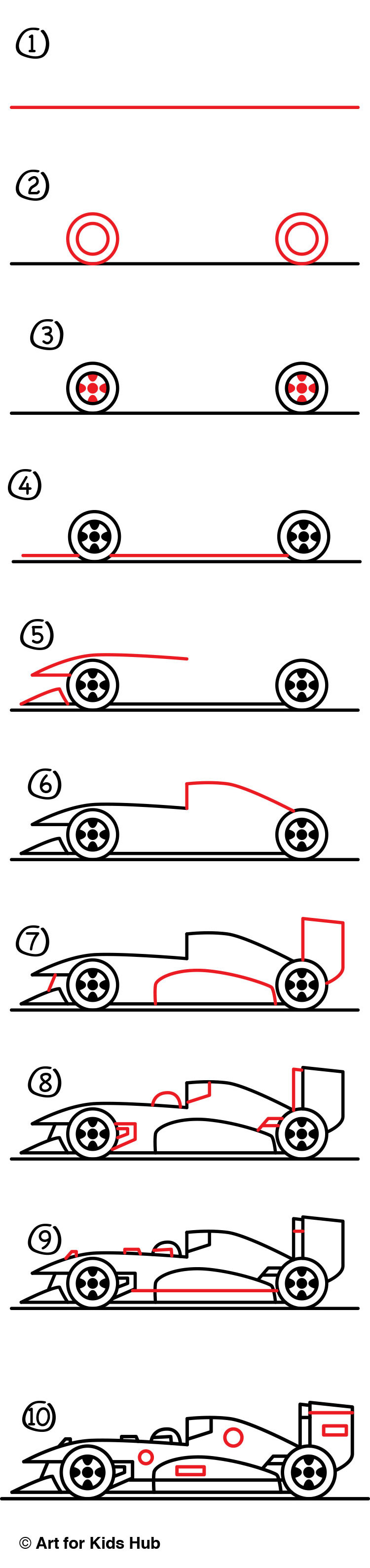 How To Draw A Race Car :