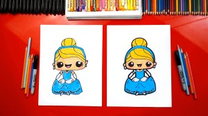 draw cinderella kawaii hub princess disney re